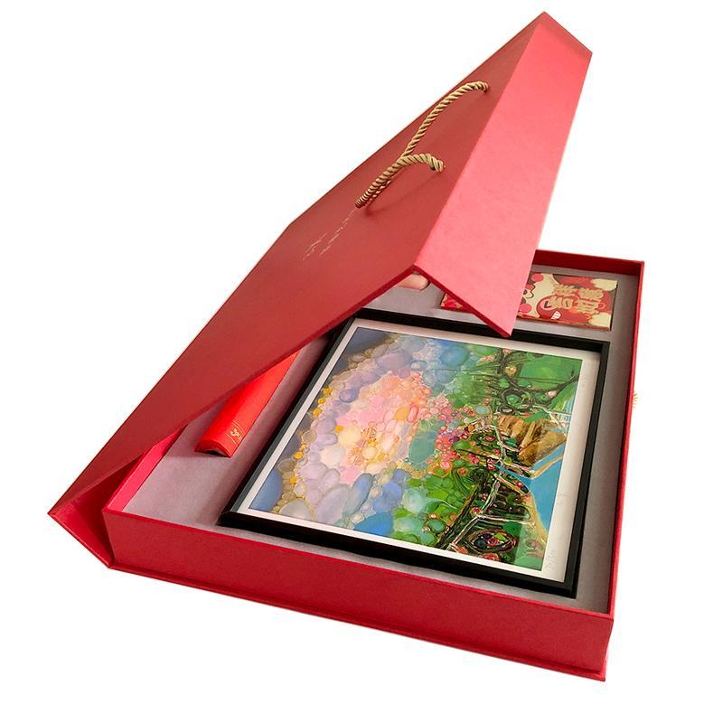 油画家刘国义版画3+x礼盒