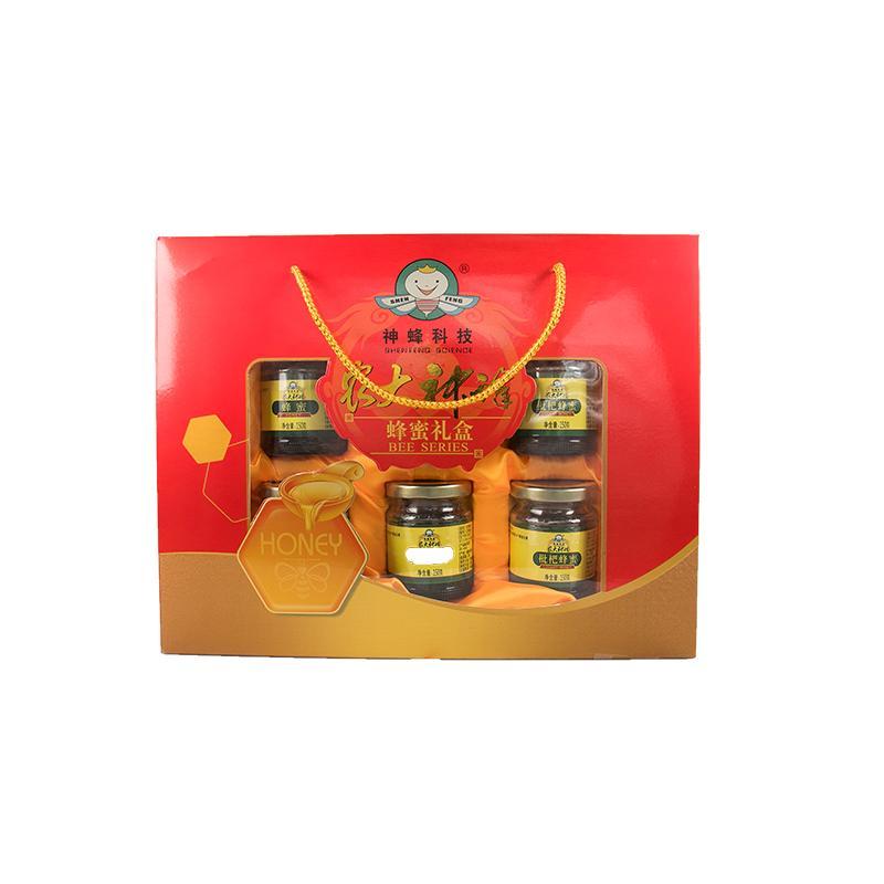 农大神蜂六瓶蜂蜜礼品盒150g*6瓶装
