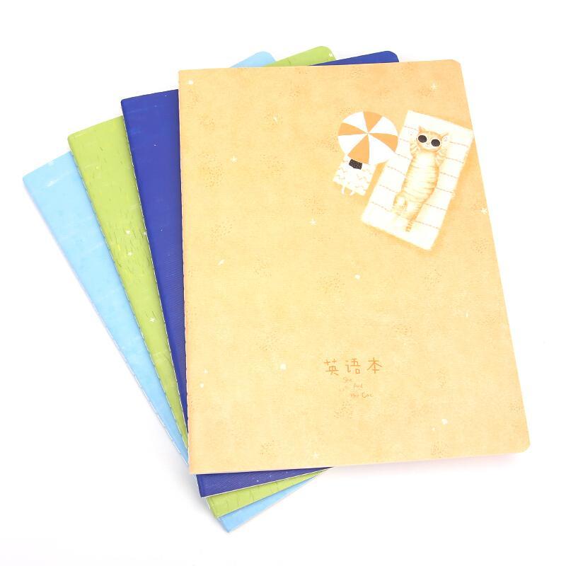 【京东物流产品满99包邮】晨光(M&G)她和她的猫系列16K/48页笔记本 8本装