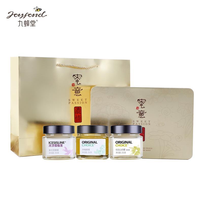 九蜂堂 蜜意浓情悦享蜂蜜礼盒250g*3