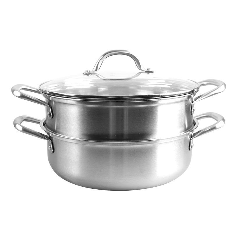 朗赫 凡尔赛三层不锈钢汤蒸锅