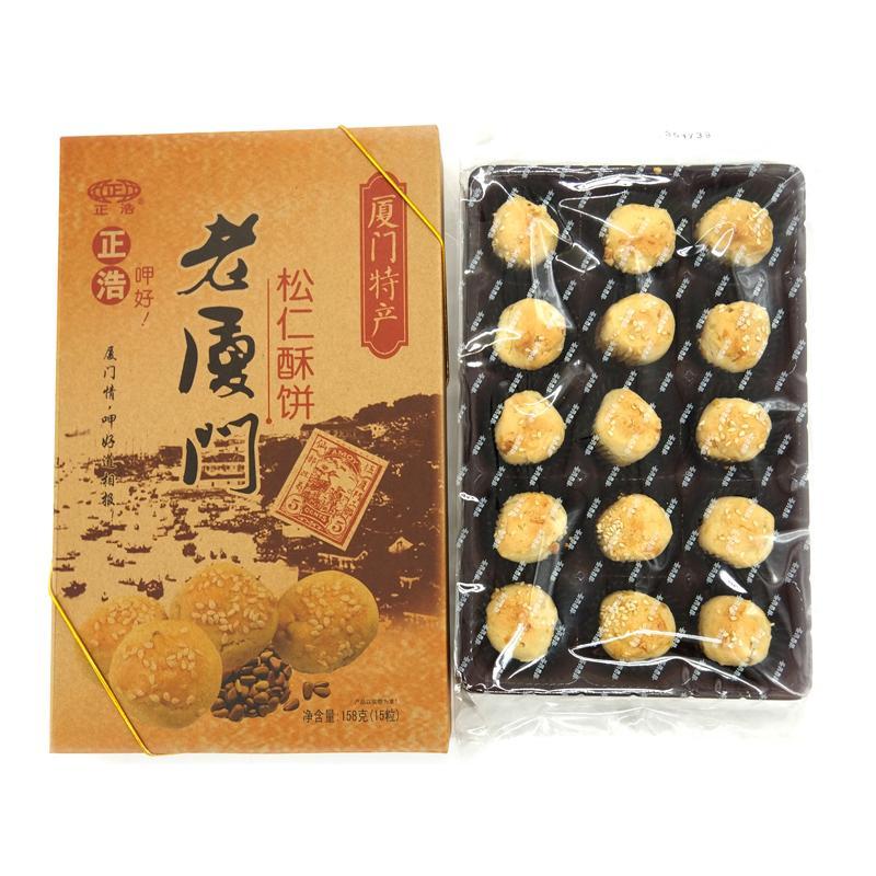 正浩 老厦门-松仁酥饼158g*24盒/箱