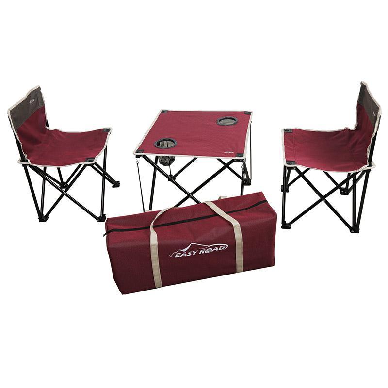易路达 双色折叠桌椅三件套