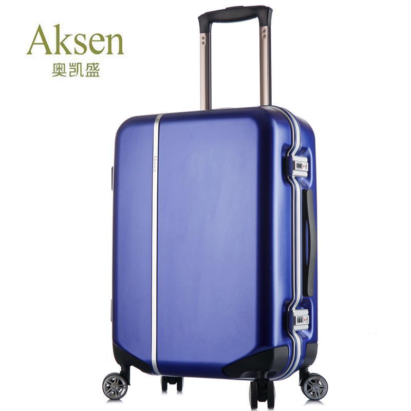 AKSEN/奥凯盛 时尚铝框拉杆箱万向轮旅行箱型号8236