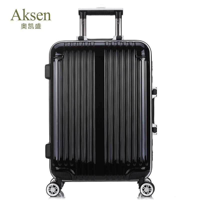 Aksen奥凯盛 拉杆箱铝框行李箱万向轮男女登机箱8218