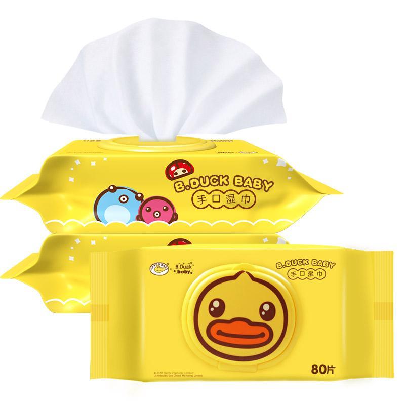 B.Duck Baby手口湿巾 80P*3
