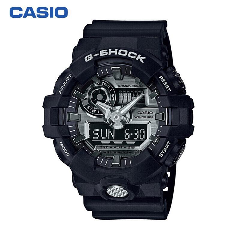 卡西欧(CASIO)手表 G-SHOCK系列多功能运动时尚男表GA-710-1A
