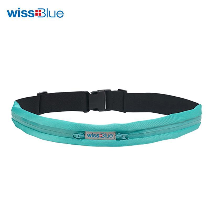 维仕蓝多功能贴身运动双袋腰带包TG-WB1065