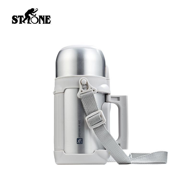 司顿真空保温壶 便携1.2L超大容量户外旅行壶 带提绳 STY121SG