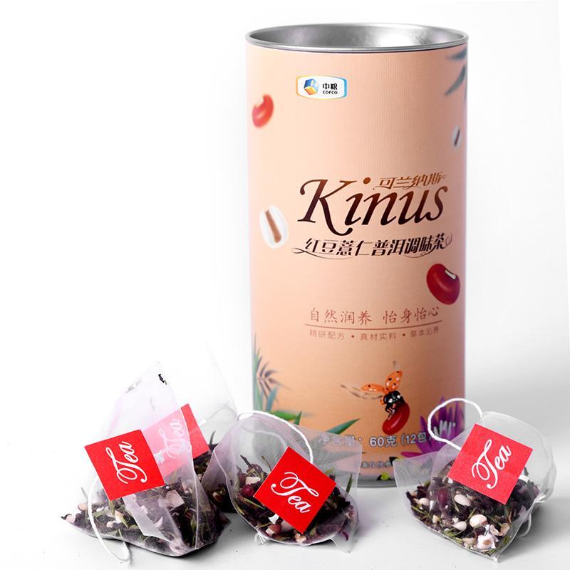 中粮Kinus可兰纳斯红豆薏仁普洱调味茶