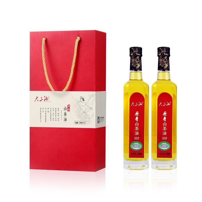 大三湘原香山茶油双支礼盒装550ml*2瓶