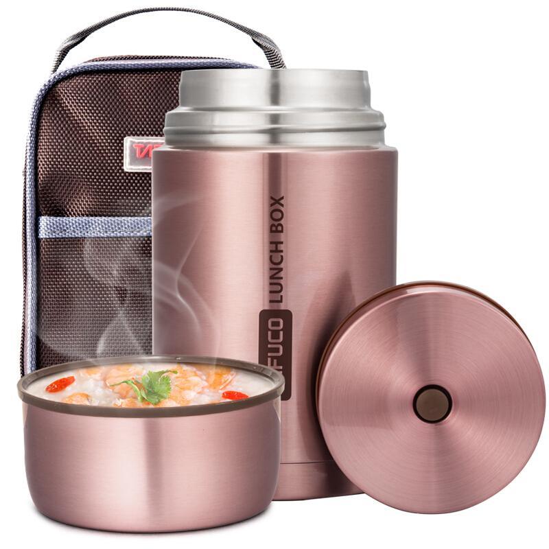 泰福高(TAFUCO)焖烧壶 304不锈钢焖烧杯保温粥桶焖烧罐1.0L