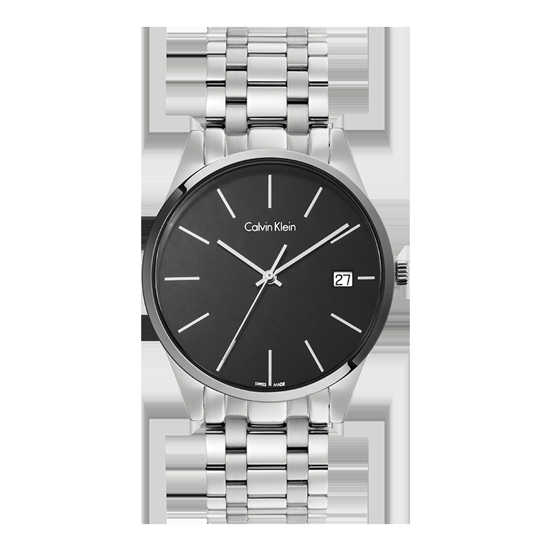 CK(Calvin Klein)Time 时光记忆手表 日历钢带石英男士腕表 K4N21141