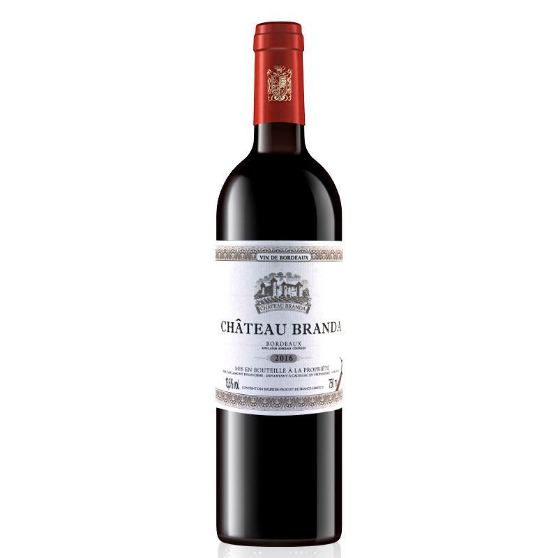 拉蒙 法国原瓶进口红酒 波尔多 AOC 布兰达B标 干红葡萄酒 单支装 750ml