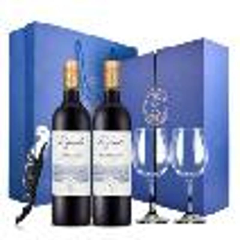 法国进口红酒 拉菲(LAFITE)传奇波尔多干红葡萄酒 双支礼盒装(耀蓝)750ml*2瓶
