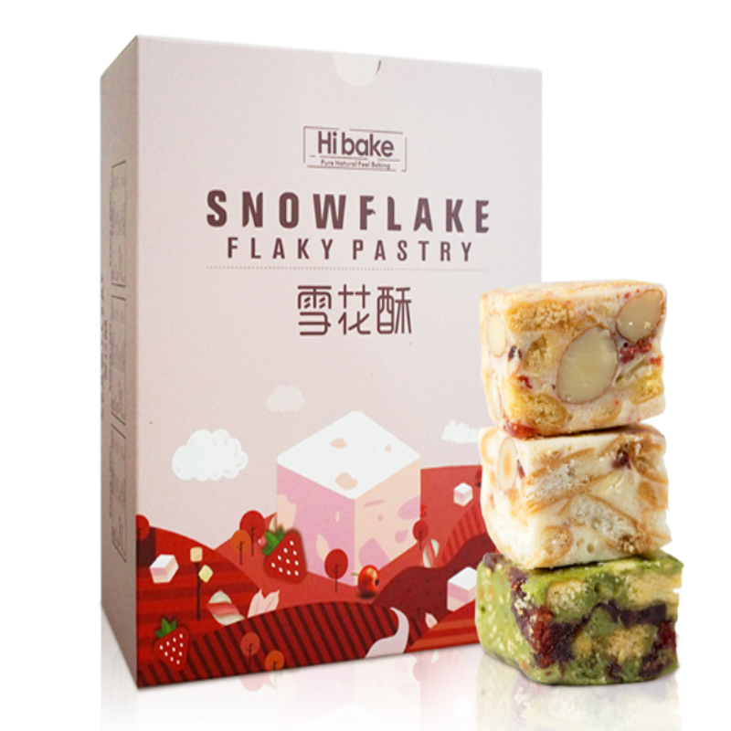 Hibake雪花酥(草莓+抹茶+蔓越莓)150g/盒*3
