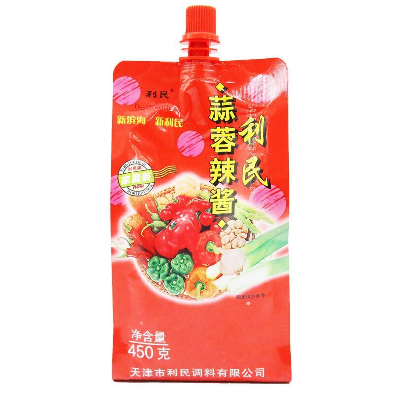 利民 调味酱 天津蒜蓉辣酱 烧烤酱辣椒酱450g