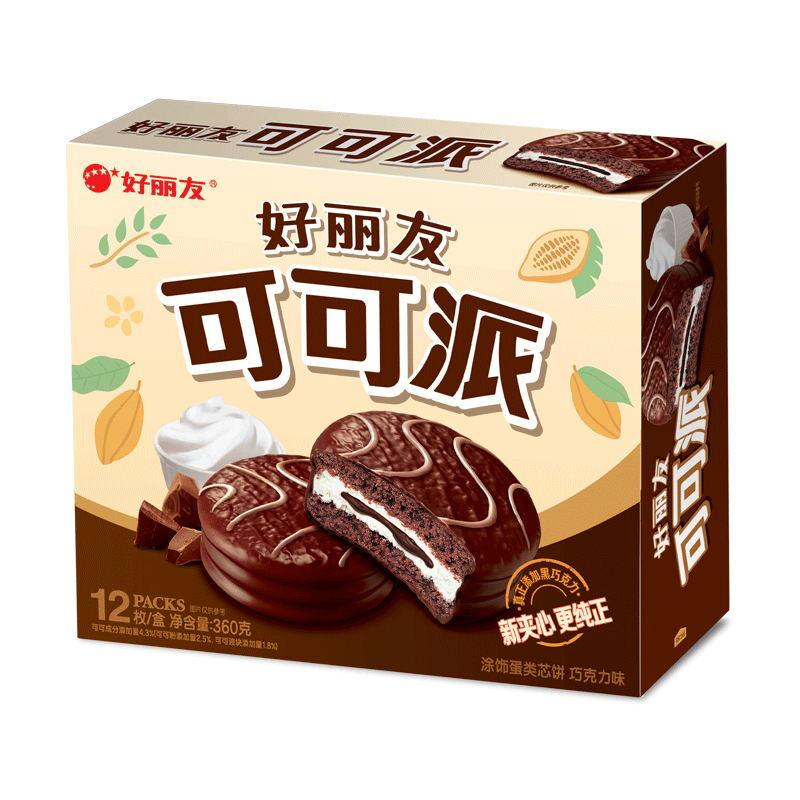 Orion 好丽友 营养早餐点心零食 下午茶 可可派12枚360g/盒(新老包装随机发货)