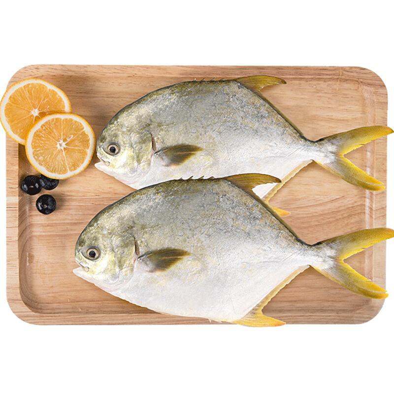 翔泰 冷冻无公害金鲳鱼700g /2条 鱼类 生鲜 出口欧美 深海大牧场 烧烤 吃货 BAP认证