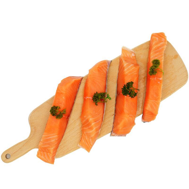 美威严选 三文鱼排(大西洋鲑)480g BAP认证智利自有渔场直供 生鲜 海鲜水产