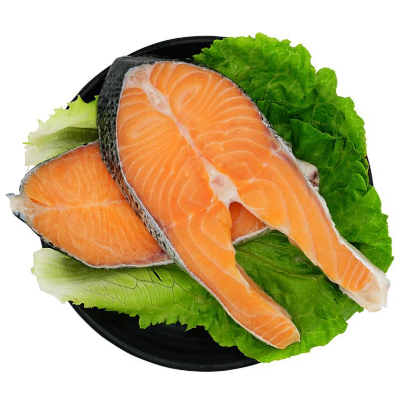 美威严选 智利轮切三文鱼排(大西洋鲑)600g/2-4片 BAP认证 智利自有渔场直供 生鲜