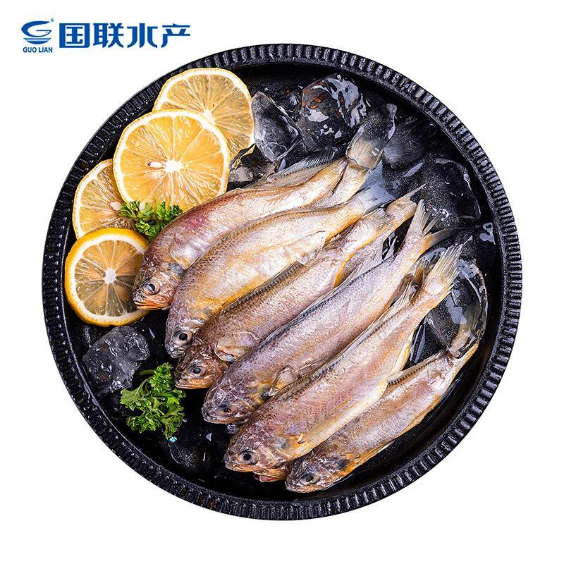 国联 冷冻东海小黄鱼1.2kg/袋 24-32条 产地直供 袋装 生鲜 海鲜水产