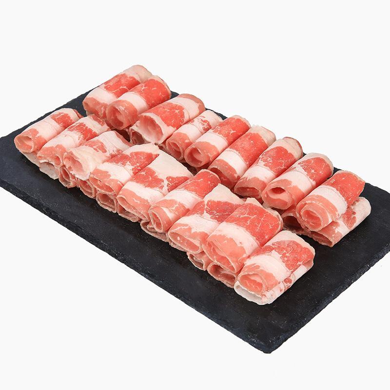 THOMAS FARMS 澳洲谷饲肥牛卷 500g 牛肉卷 烧烤火锅食材 进口牛肉 烤肉生鲜