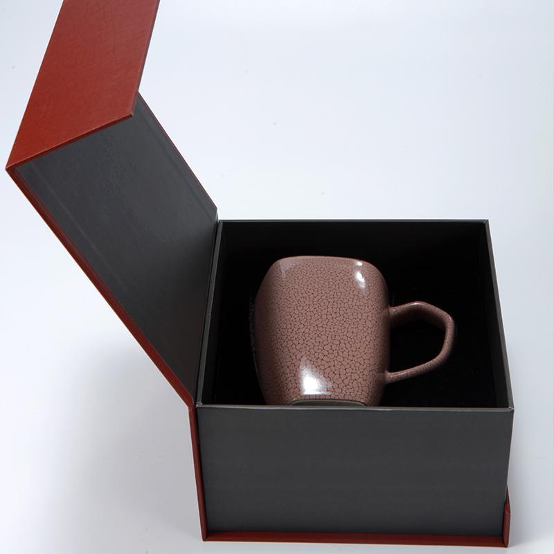 乐扣陶瓷余韵单杯 豆沙红