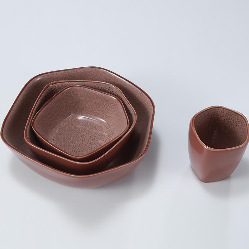 乐扣陶瓷余韵一人食 豆沙红