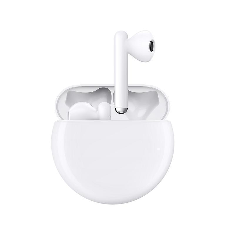 华为( HUAWEI)FreeBuds3 无线蓝牙耳机 主动降噪骨声纹识别 半入耳式 陶瓷白