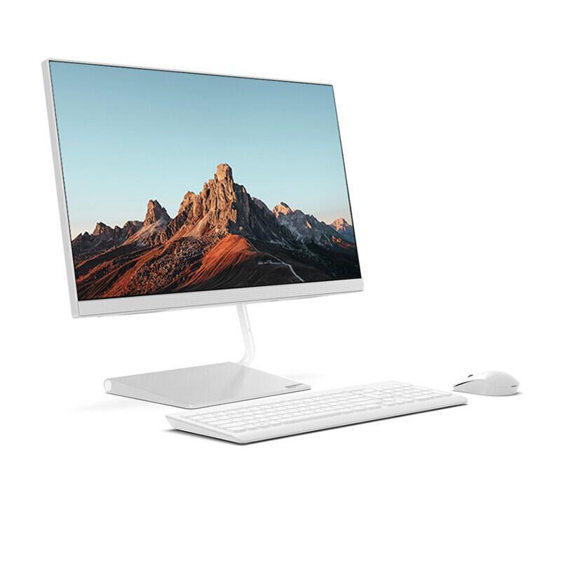 联想(Lenovo)AIO逸 个人商务一体机台式电脑23.8英寸 白