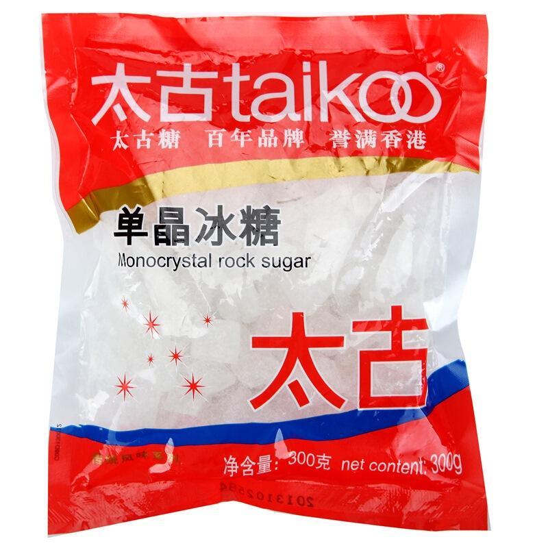 太古(taikoo)食糖 单晶冰糖 300g 烘焙原料 冲饮调味 百年品牌 以质为先  太古出品