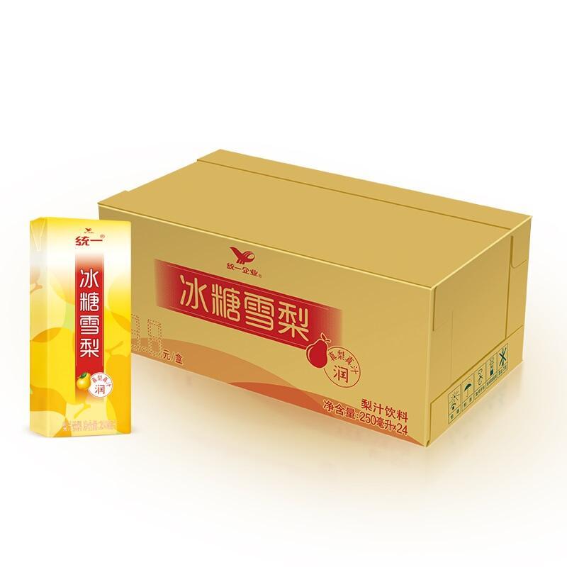 统一 冰糖雪梨(梨汁饮料) 250ml*24盒/箱  整箱装