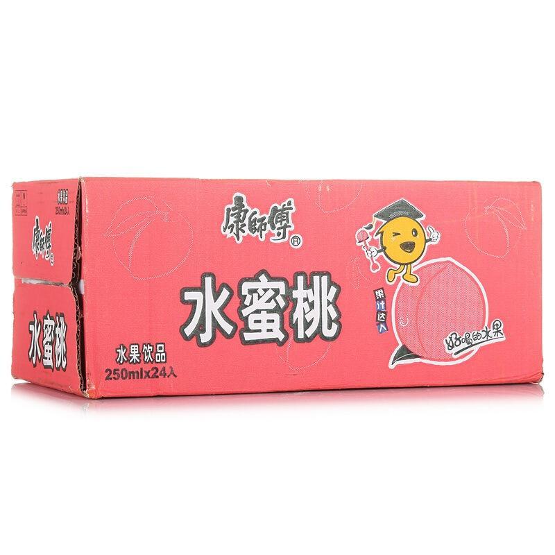 康师傅 水蜜桃汁 250ml*24好喝的水果  整箱装