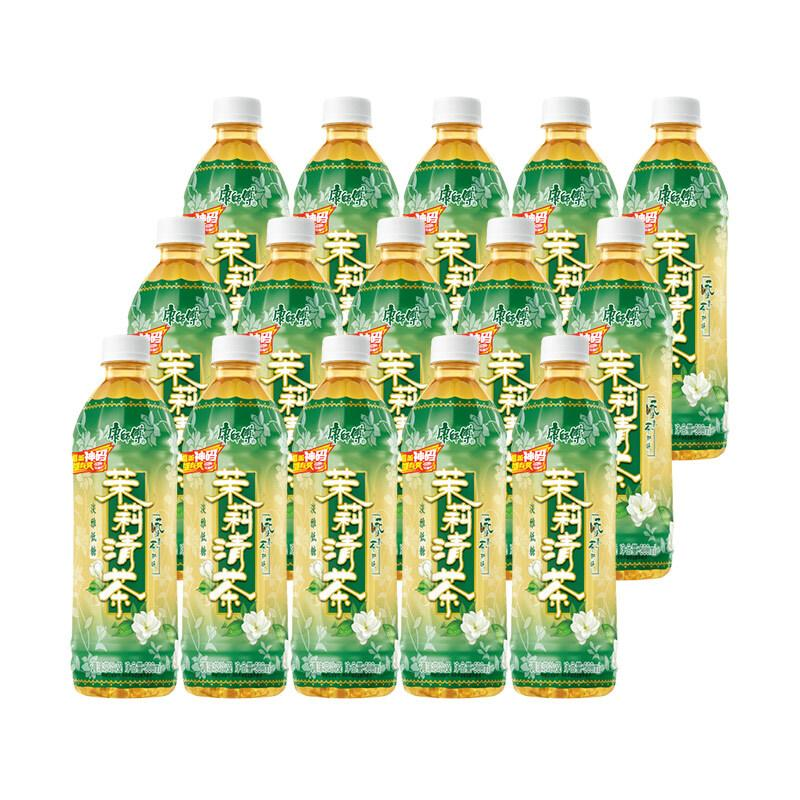 康师傅茉莉清茶500ml*15茉莉茶瓶装饮料清香浪漫整箱