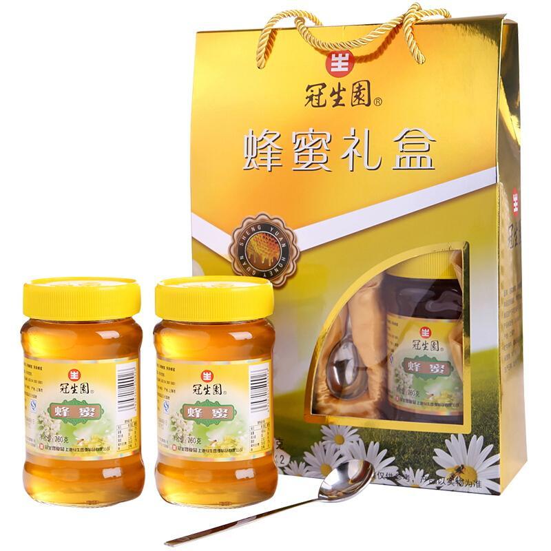 冠生园 蜂蜜1520g 玻璃瓶装 冲饮即食