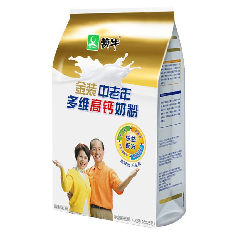 蒙牛 金装中老年多维高钙奶粉 400g 成人奶粉