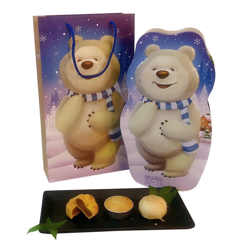 莫斯科餐厅月饼礼盒悦色8粒装520g铁盒装中秋节送礼欧式巧克力蔓越莓五仁月