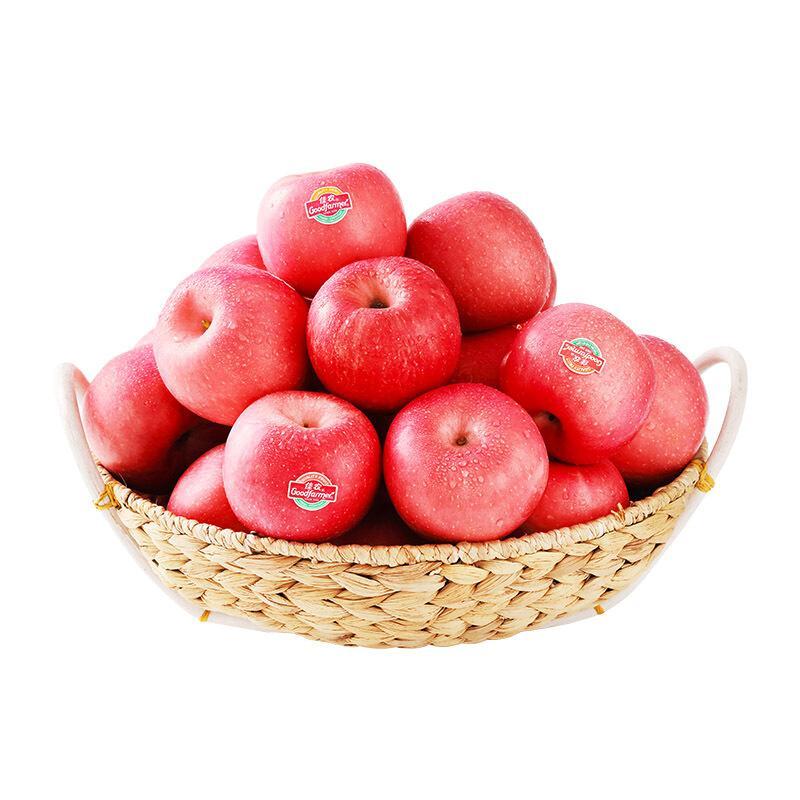 佳农 烟台苹果 5kg 红富士 一级果 单果重约160g-200g 生鲜水果