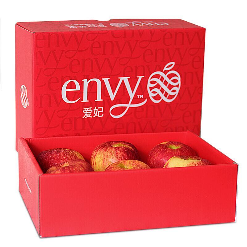 新西兰爱妃(envy)苹果 特级大果6粒礼盒装 单果重约180-220g 生鲜苹果水果礼盒