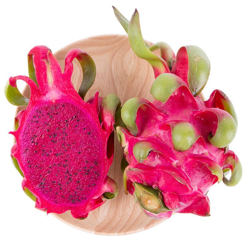 越南进口红心火龙果 6粒装 红肉 单果约300-350g 新鲜水果