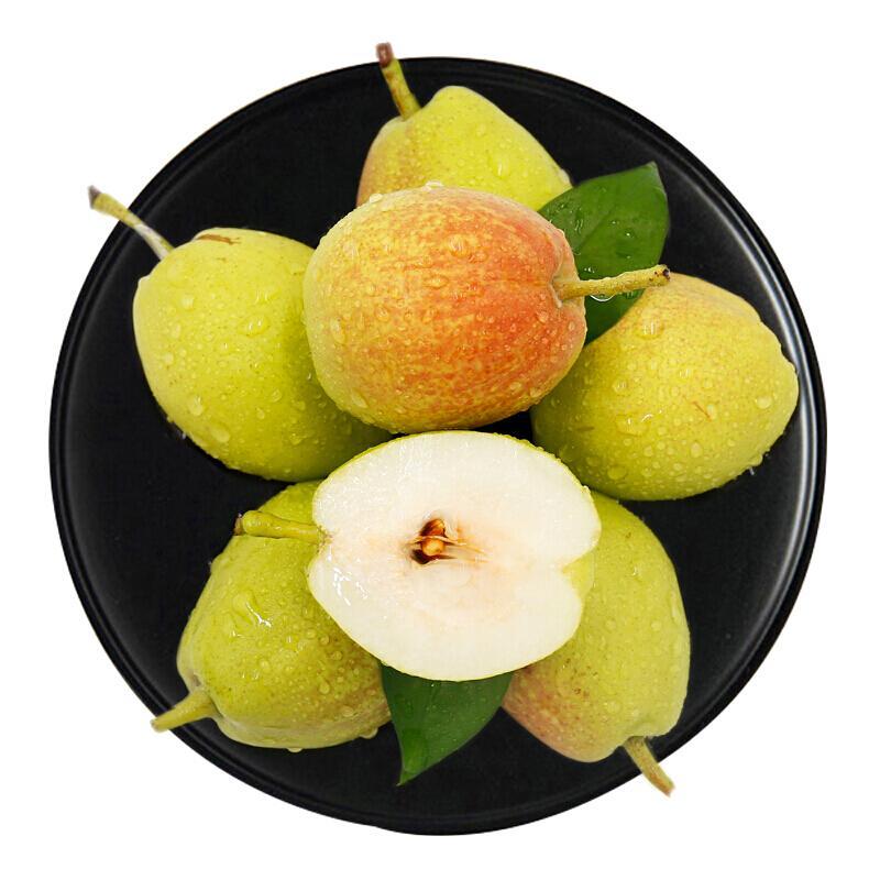 库尔勒香梨3斤装 特级梨子 单果120g+ 新生鲜水果 孕妇可食