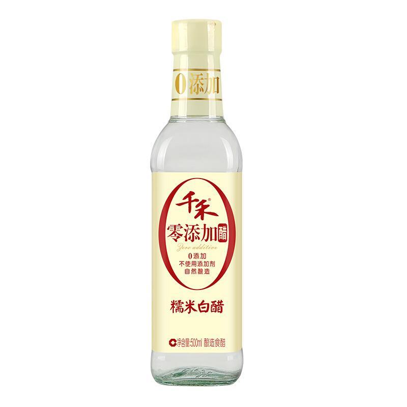 千禾 醋 酿造糯米白醋 不使用添加剂 500mL