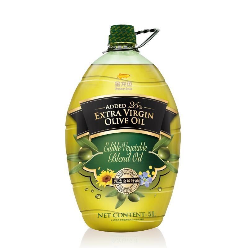 金龙鱼  食用油 添加25%特级初榨橄榄油 食用植物调和油5L