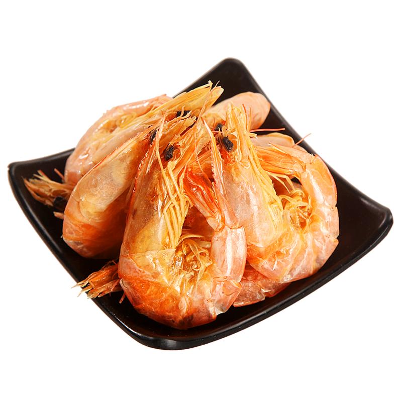 海边人 冷冻即食烤虾干对虾干 260g 瓶装 海鲜水产干货零食 国产