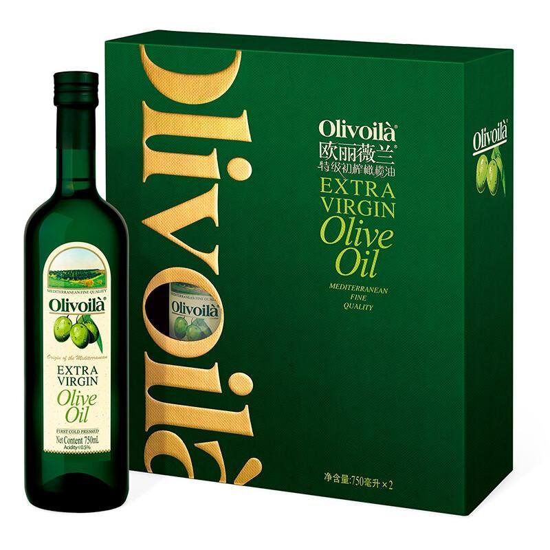 欧丽薇兰 橄榄油 特级初榨橄榄油礼盒 750ml*2瓶