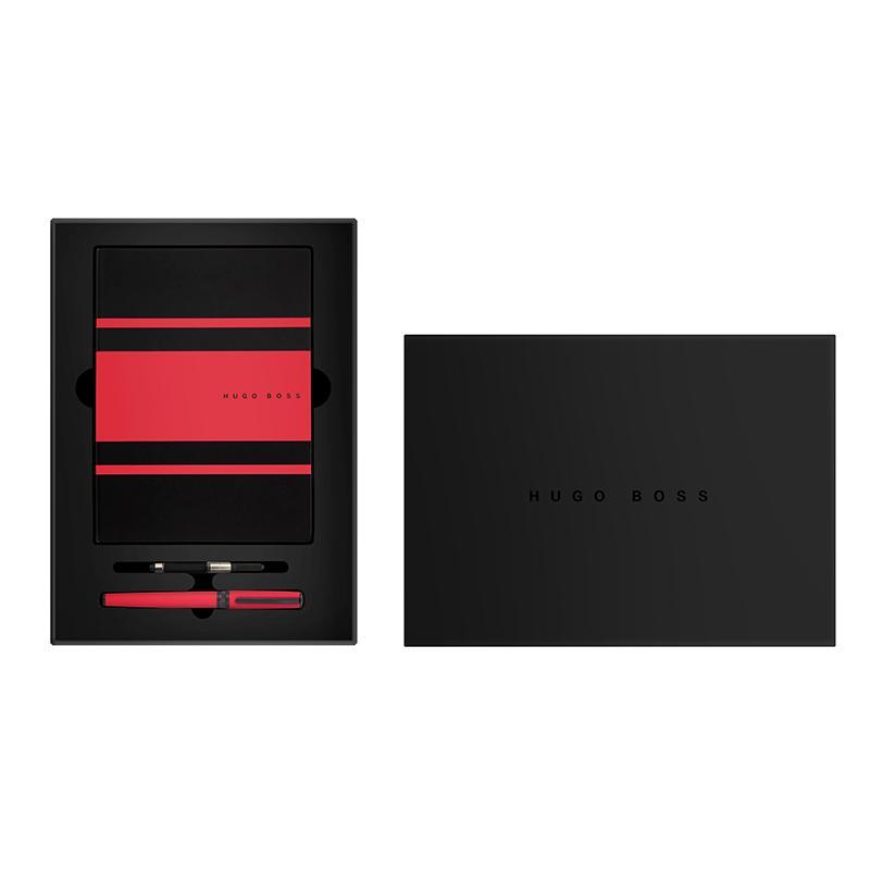 HUGOBOSS 炫彩系列红色墨水笔+红色传动本 套装