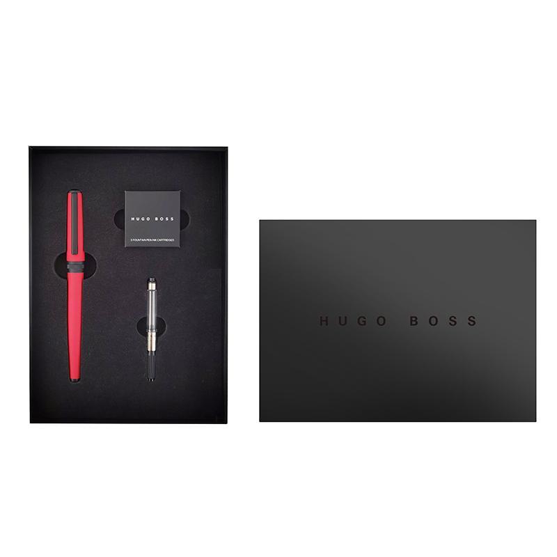 HUGOBOSS 炫彩系列红色墨水笔+墨囊 套装