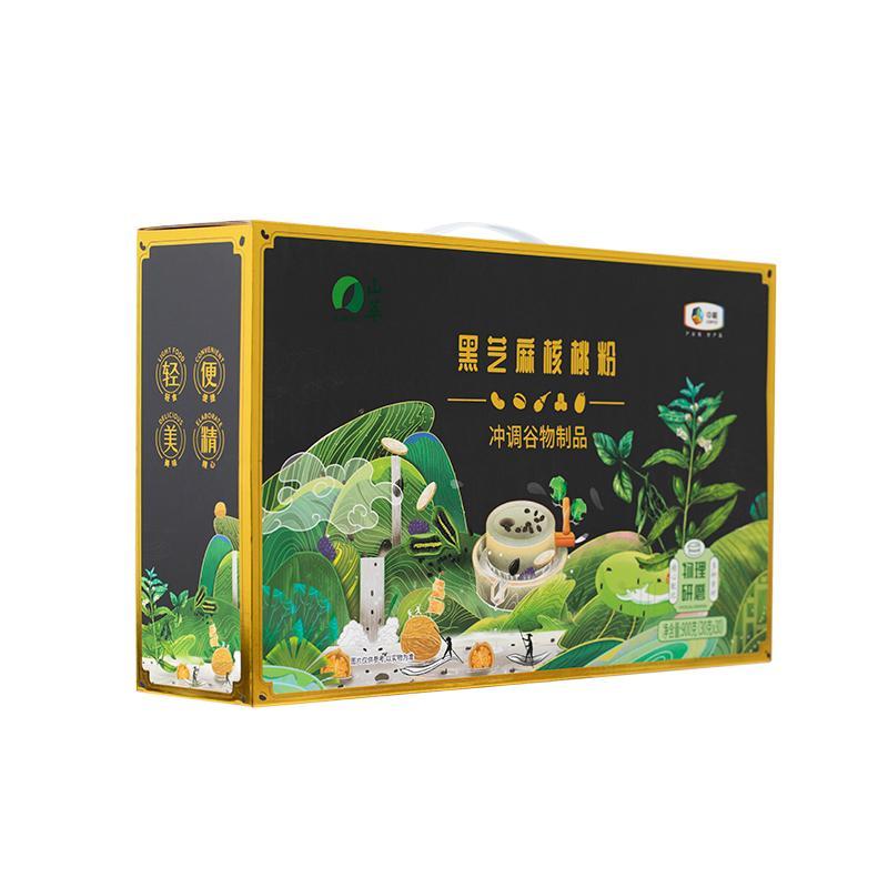 中粮山萃黑芝麻核桃粉礼盒900g