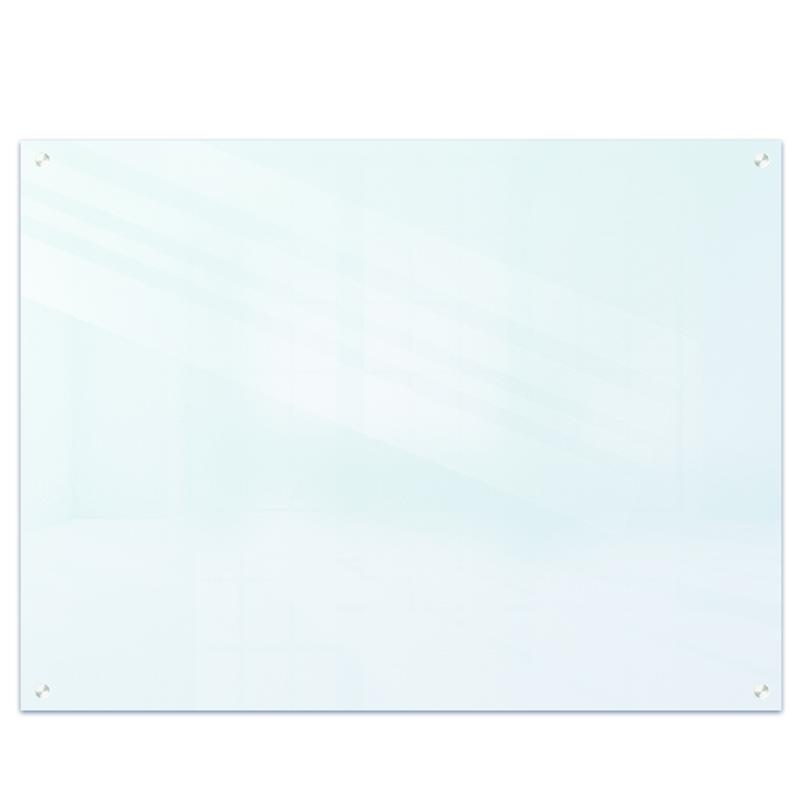 得力(deli)挂式白板150*100cm 磁性钢化悬挂式玻璃白板办公会议写字板黑板(附赠白板擦 白板笔 磁钉)8740